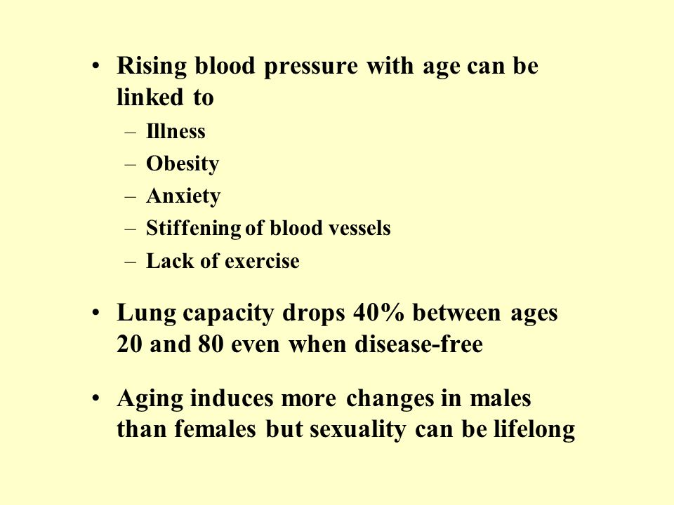 Rising blood pressure with age can be linked to