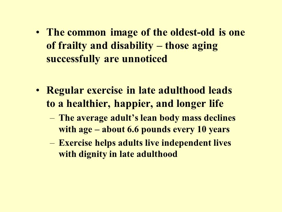 The common image of the oldest-old is one of frailty and disability – those aging successfully are unnoticed