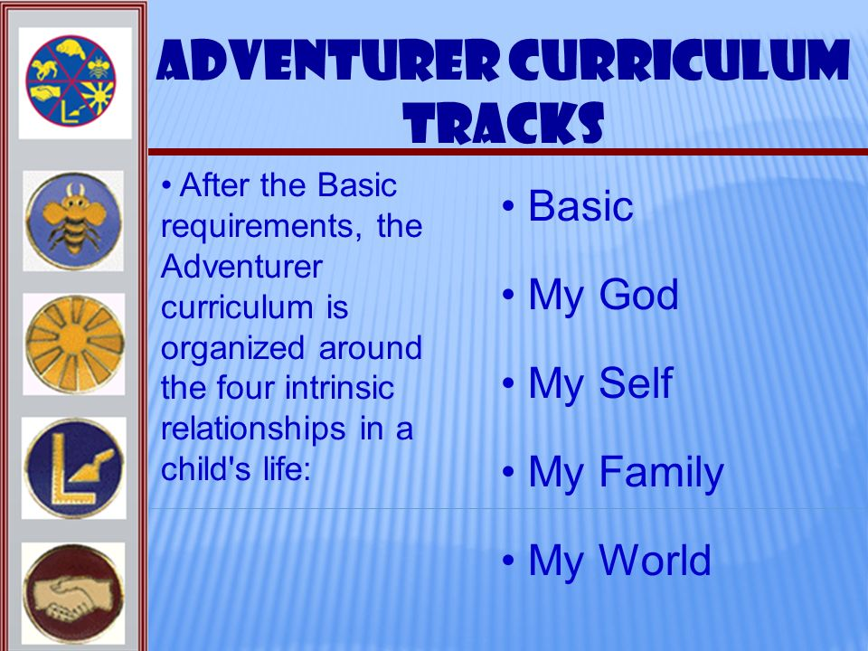 Adventurer Curriculum Tracks