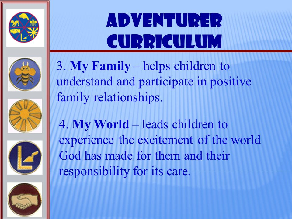 Adventurer Curriculum