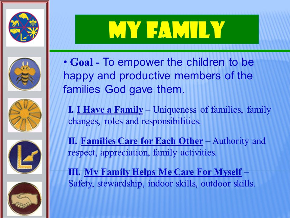 My Family Goal - To empower the children to be happy and productive members of the families God gave them.
