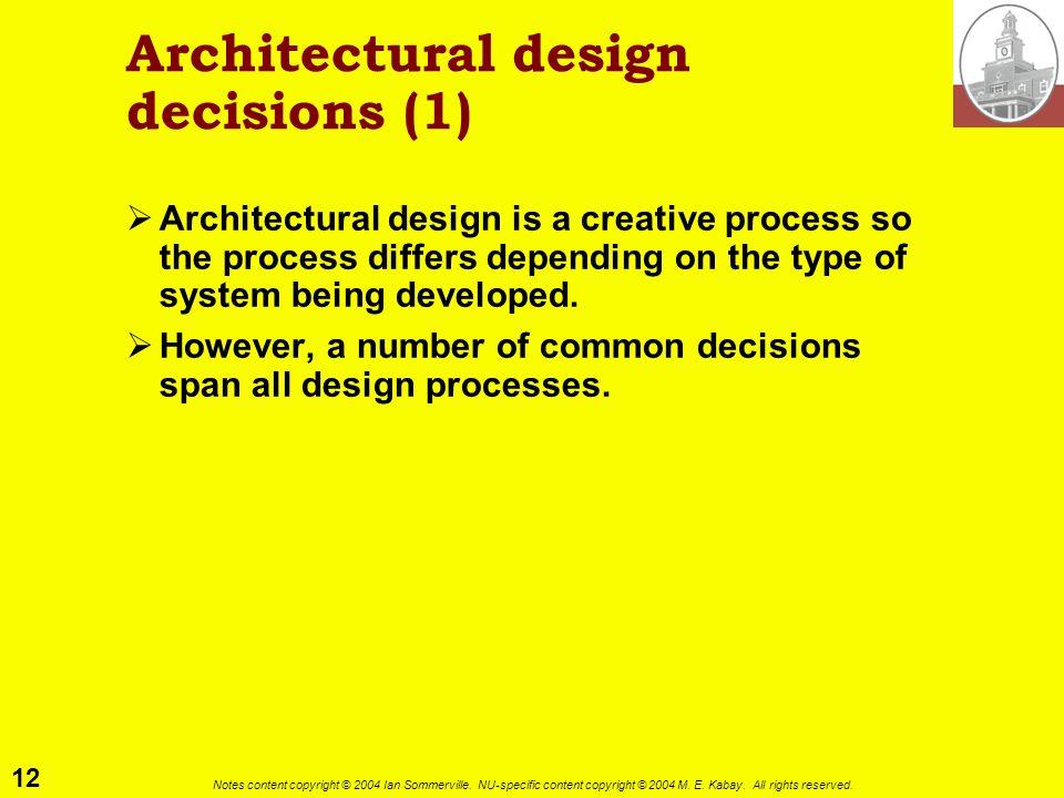 Architectural design decisions (1)