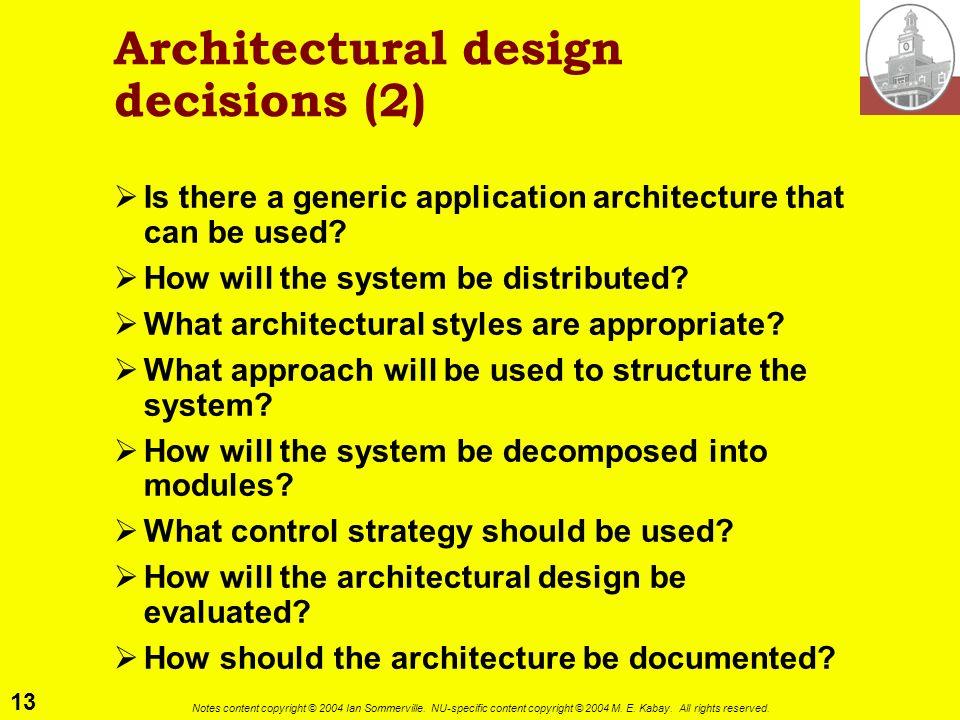 Architectural design decisions (2)