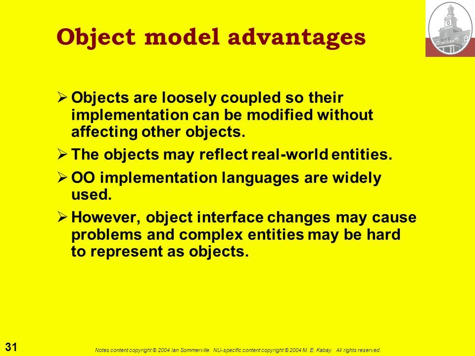 Object model advantages