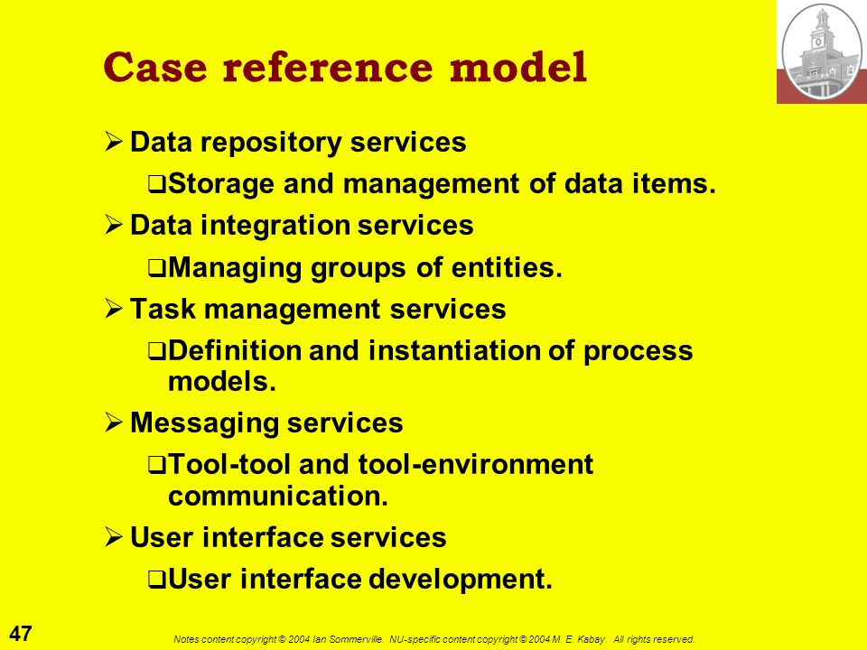 Case reference model Data repository services