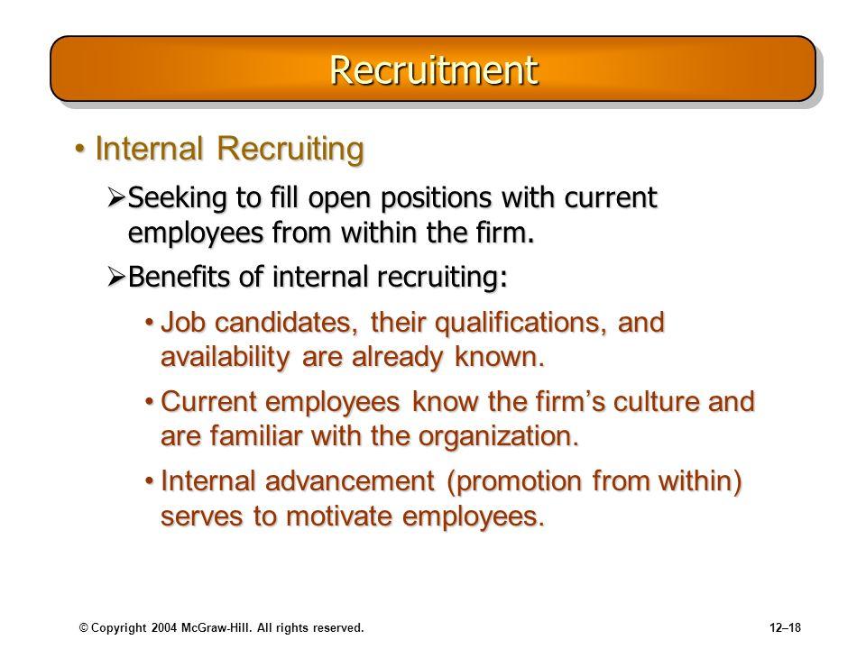 Recruitment Internal Recruiting