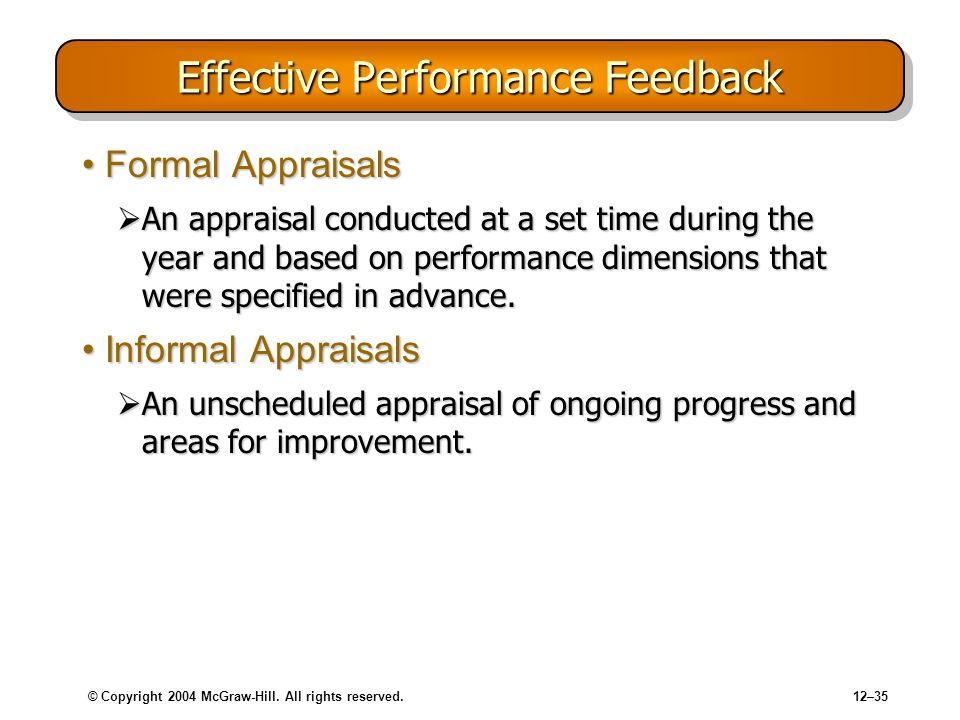Effective Performance Feedback
