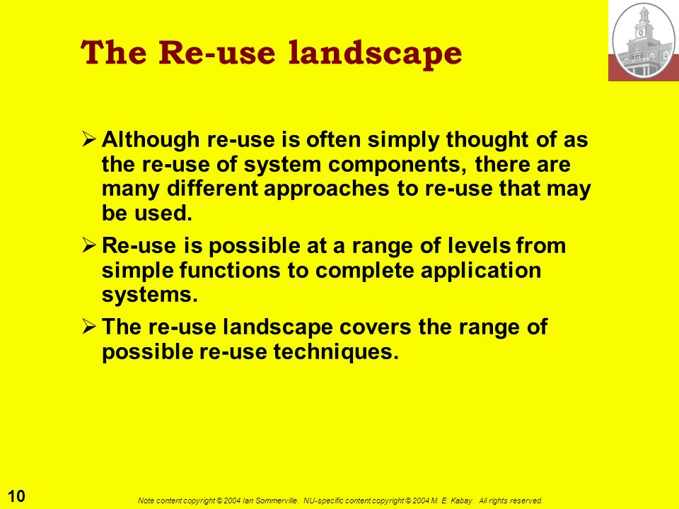 The Re-use landscape