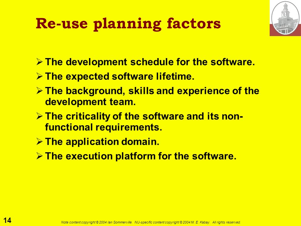 Re-use planning factors