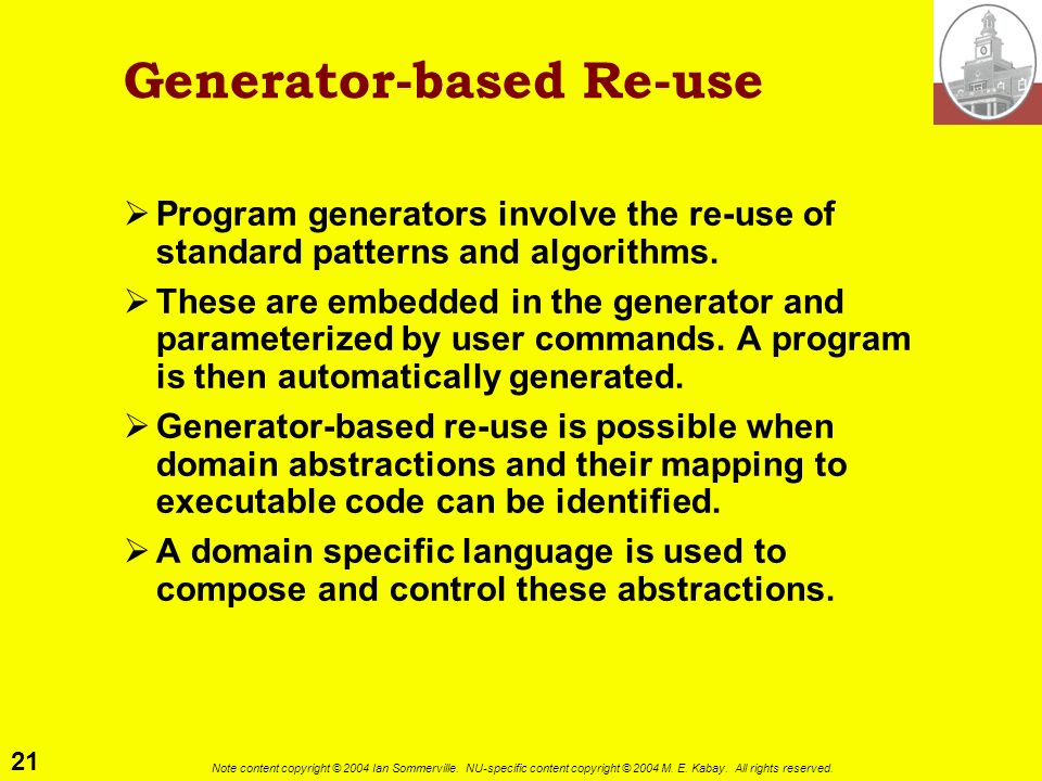 Generator-based Re-use