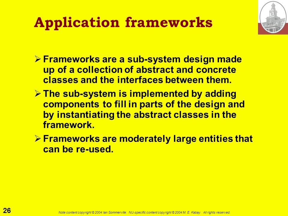 Application frameworks