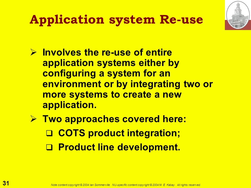 Application system Re-use