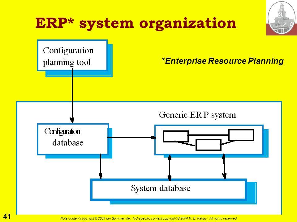 ERP* system organization