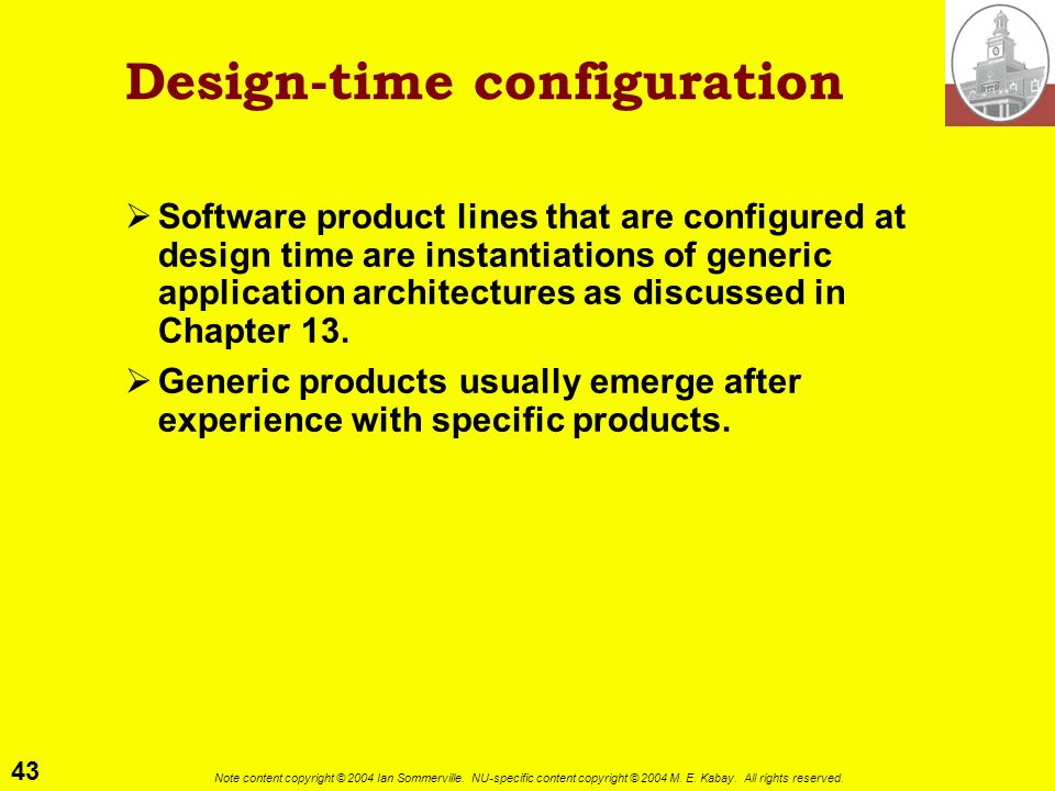 Design-time configuration