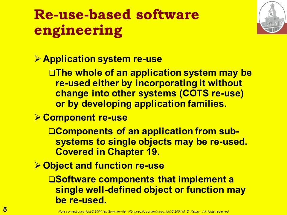 Re-use-based software engineering