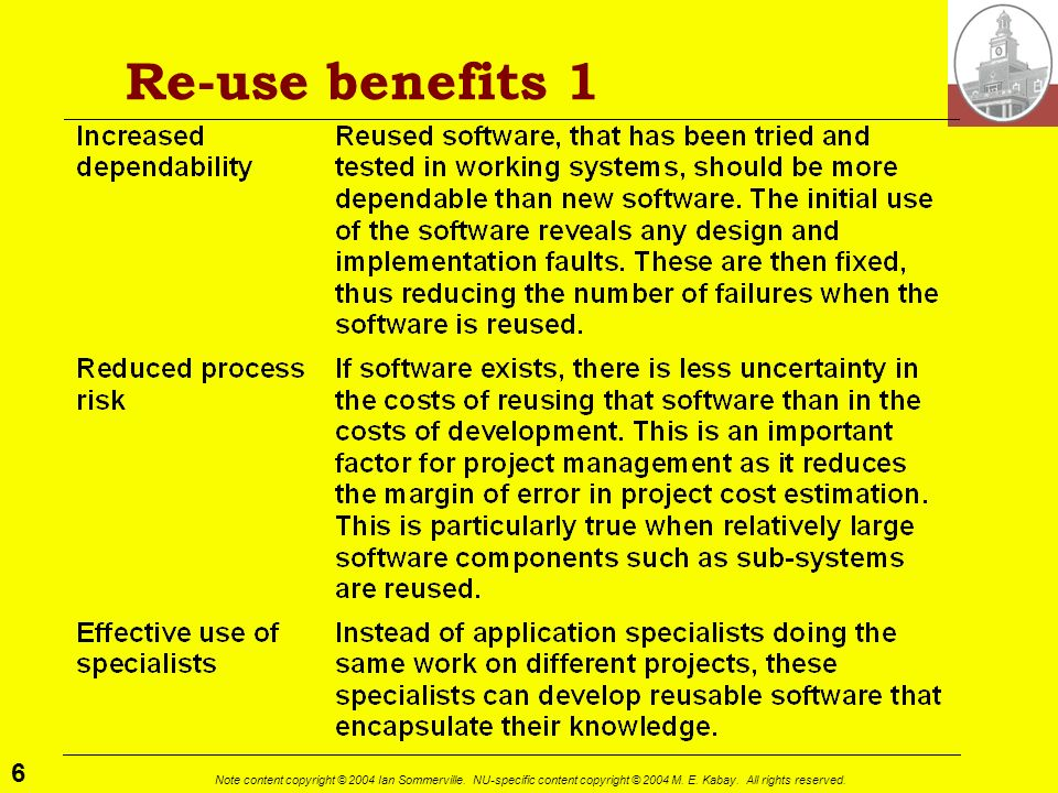 Re-use benefits 1