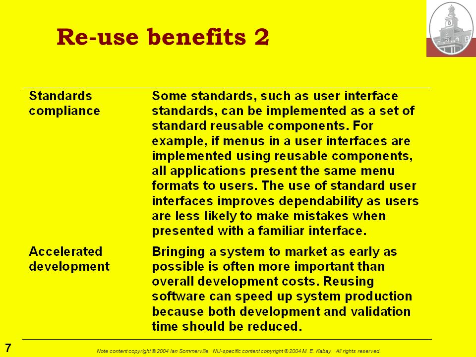 Re-use benefits 2