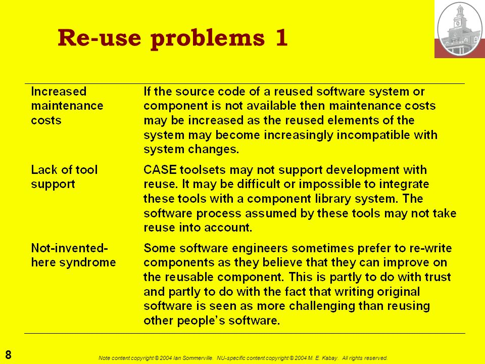 Re-use problems 1
