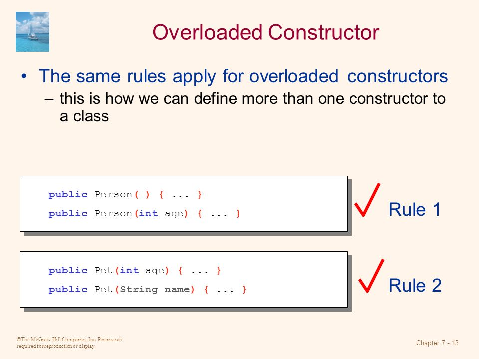 Overloaded Constructor