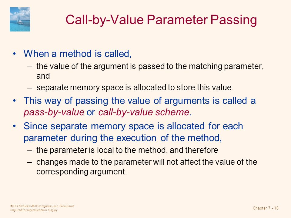 Call-by-Value Parameter Passing