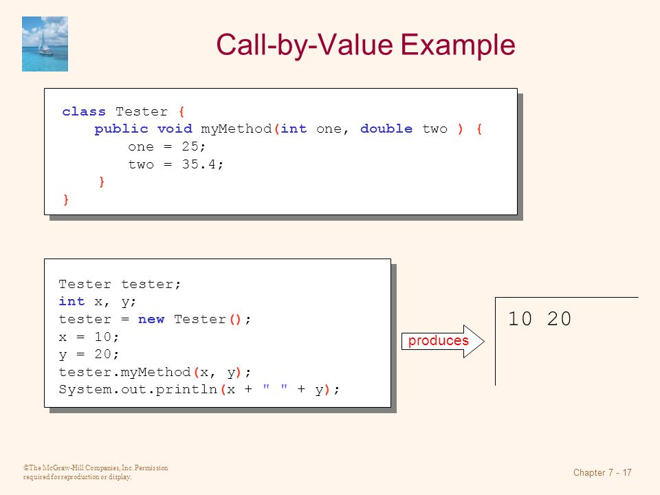 Call-by-Value Example