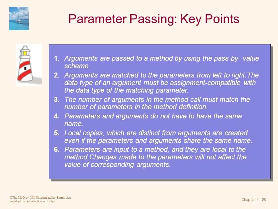 Parameter Passing: Key Points