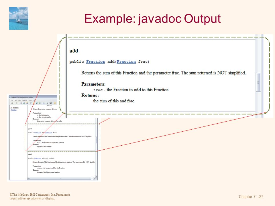 Example: javadoc Output