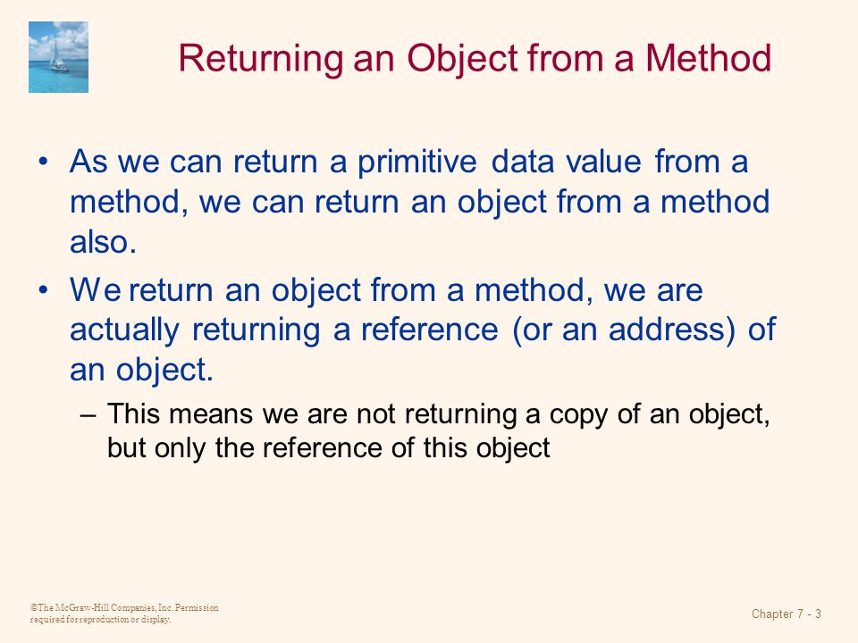 Returning an Object from a Method