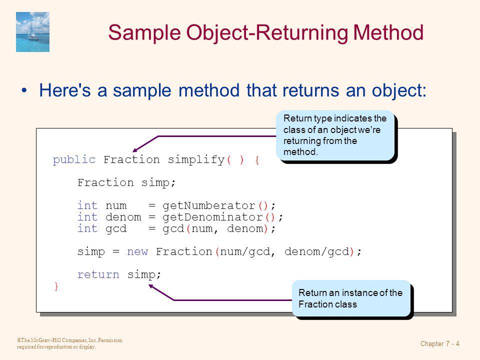 Sample Object-Returning Method