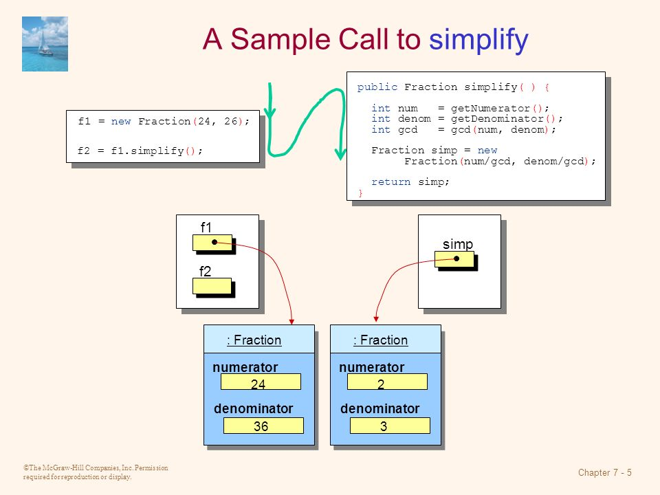 A Sample Call to simplify