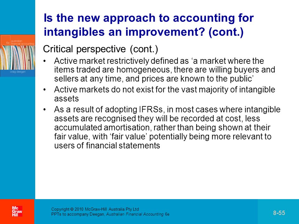 Is the new approach to accounting for intangibles an improvement (cont.)