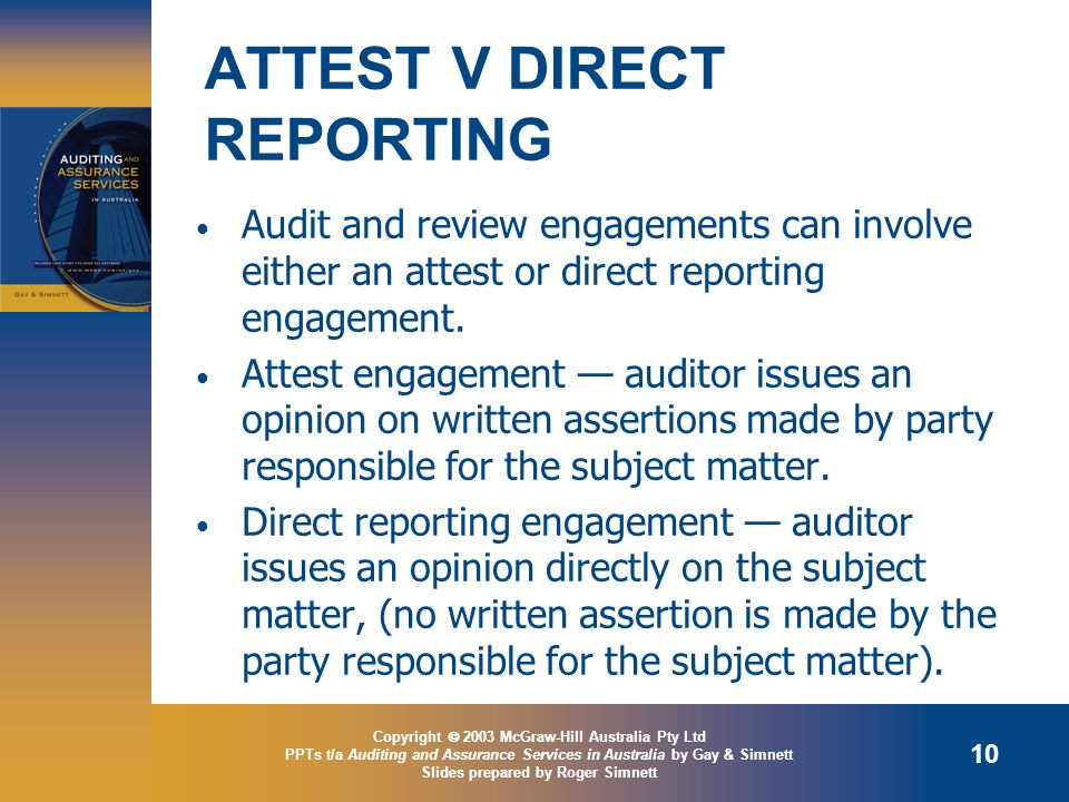 ATTEST V DIRECT REPORTING