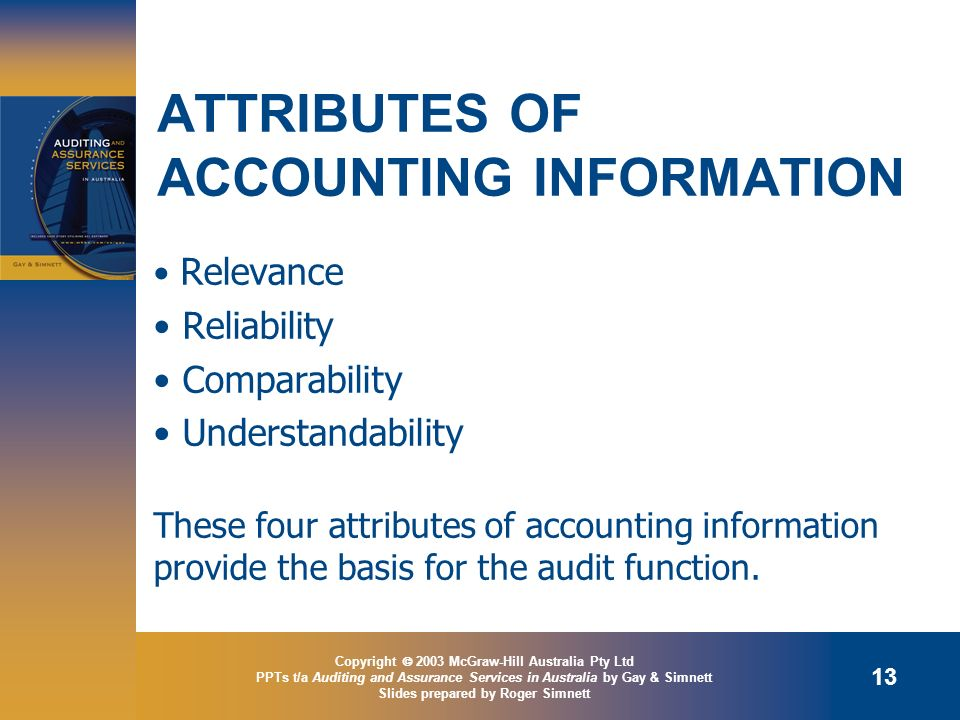 ATTRIBUTES OF ACCOUNTING INFORMATION