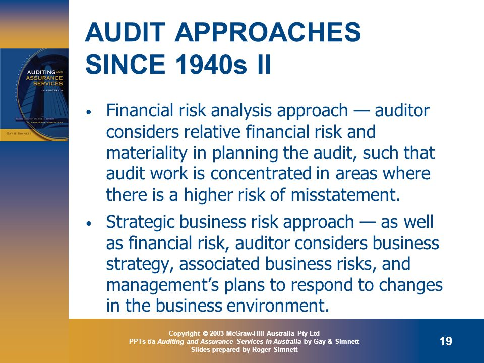 AUDIT APPROACHES SINCE 1940s II