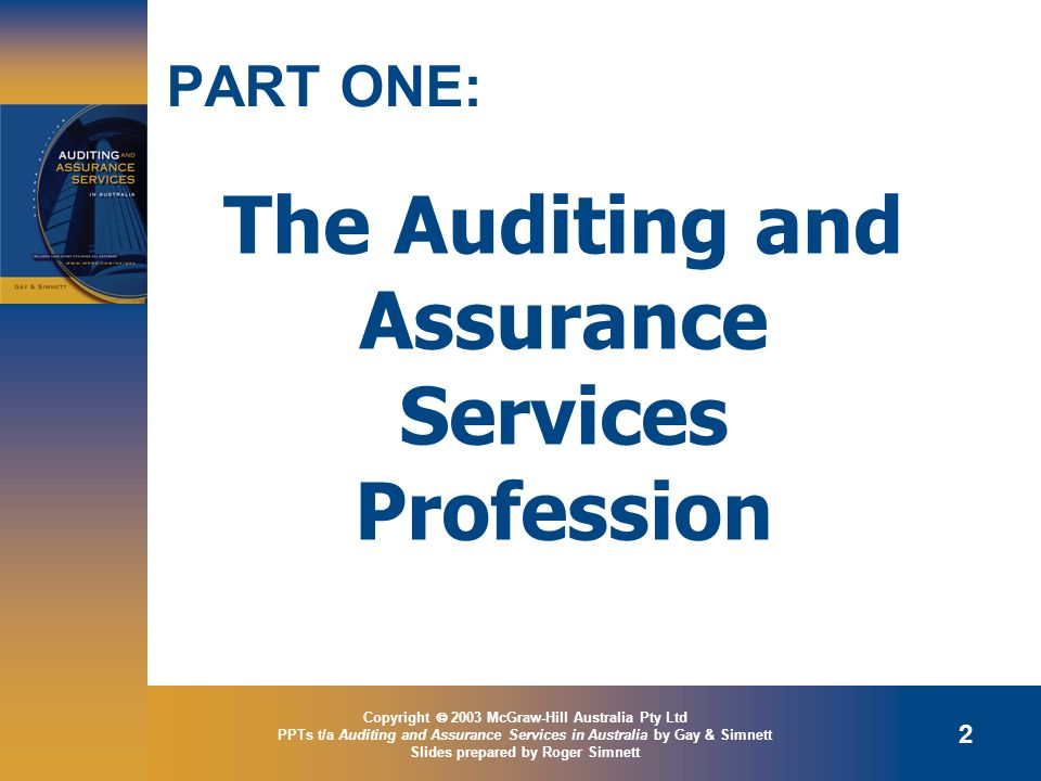 The Auditing and Assurance Services Profession