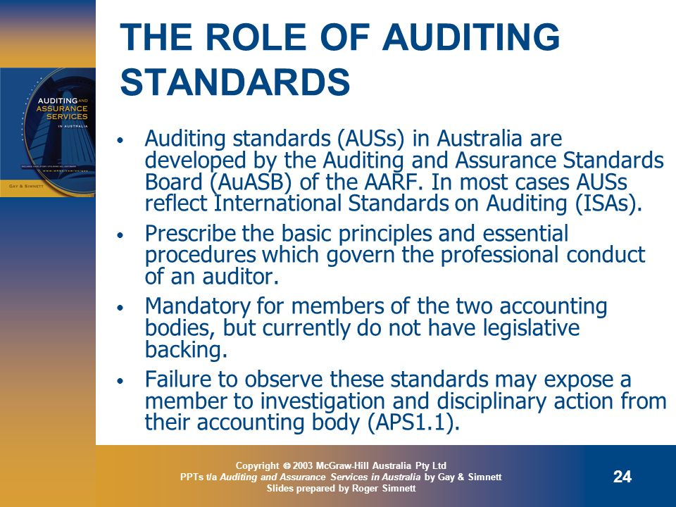 THE ROLE OF AUDITING STANDARDS