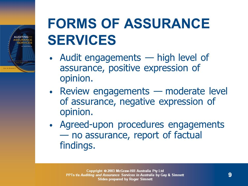 FORMS OF ASSURANCE SERVICES
