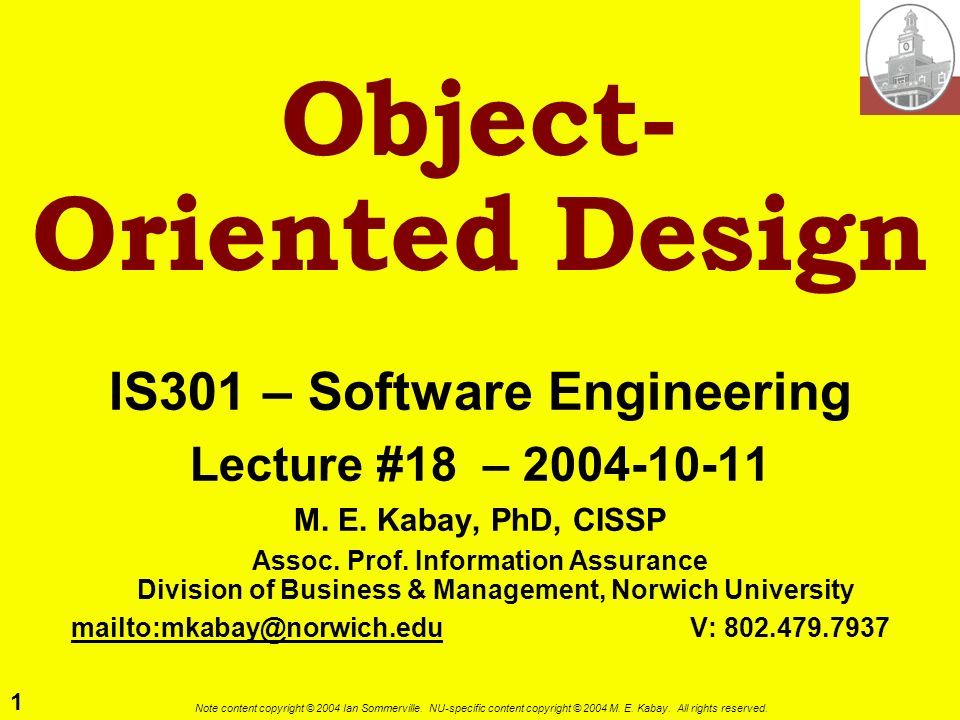 Object- Oriented Design