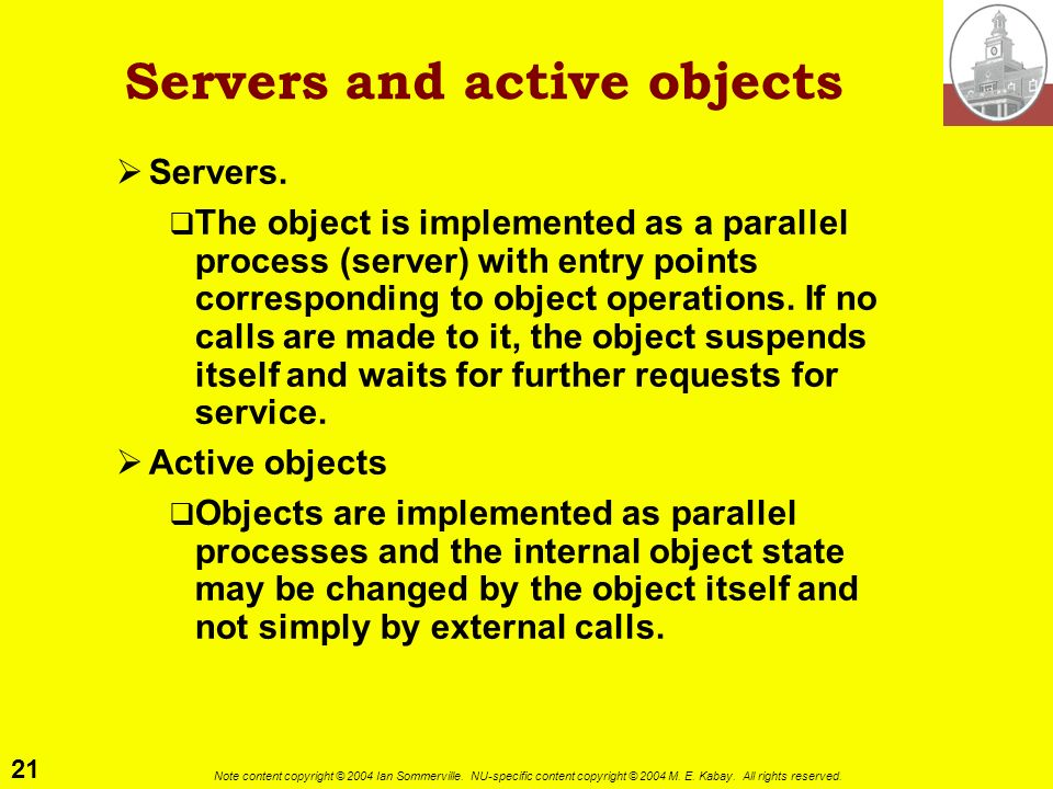 Servers and active objects
