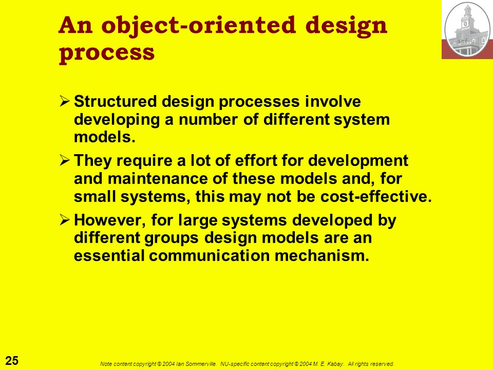 An object-oriented design process