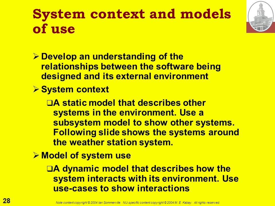 System context and models of use