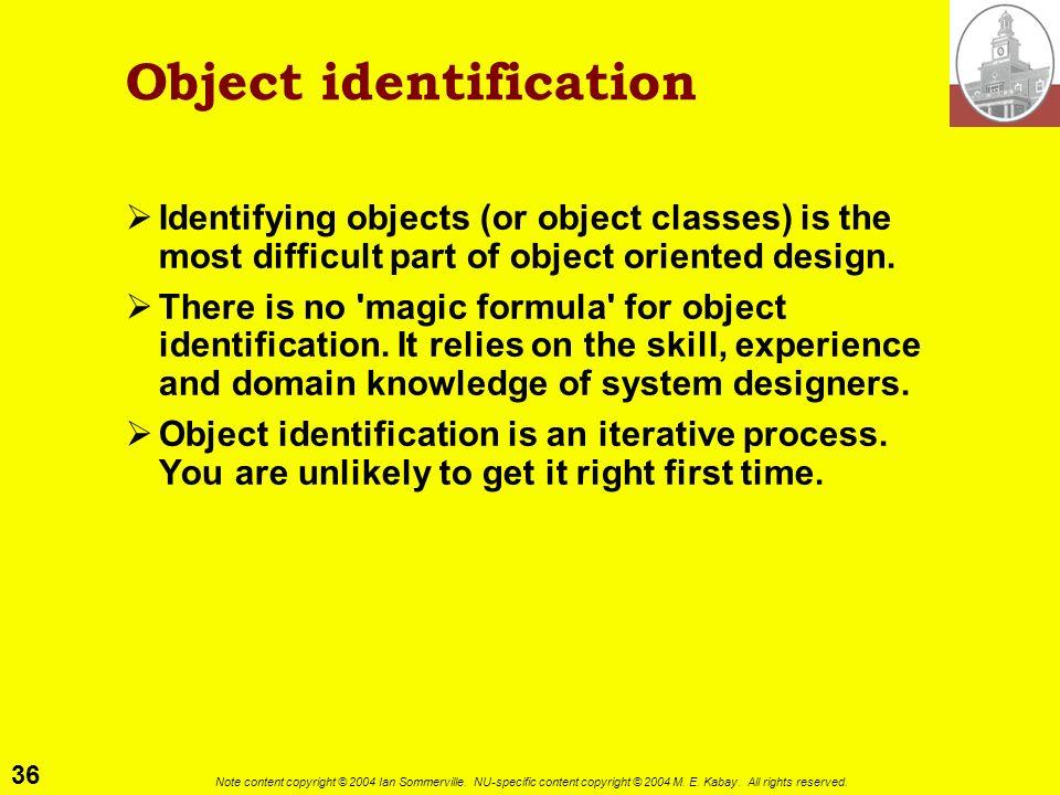Object identification