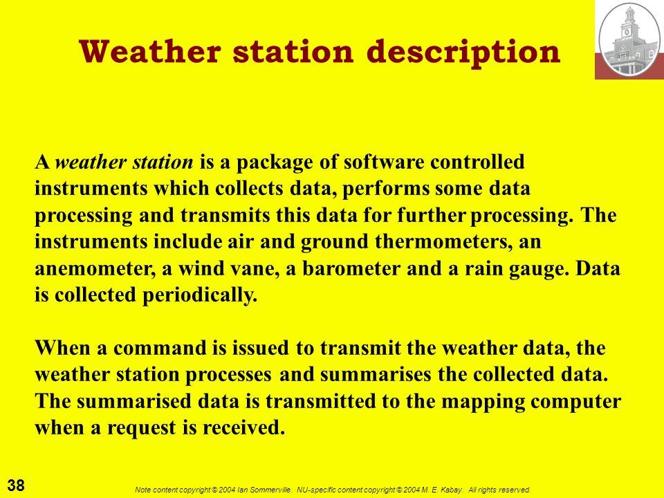 Weather station description