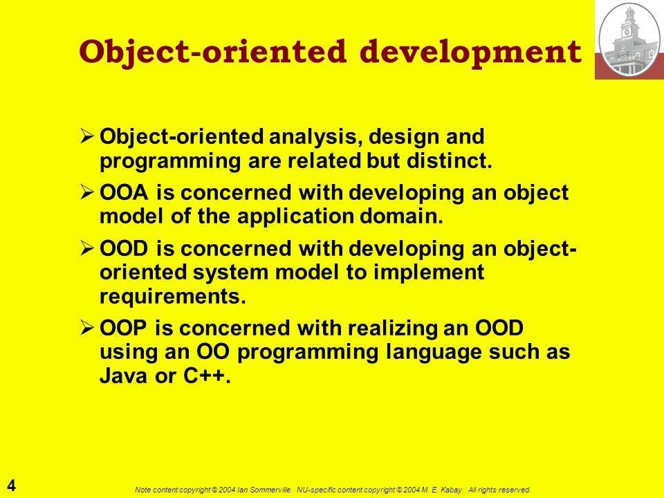 Object-oriented development