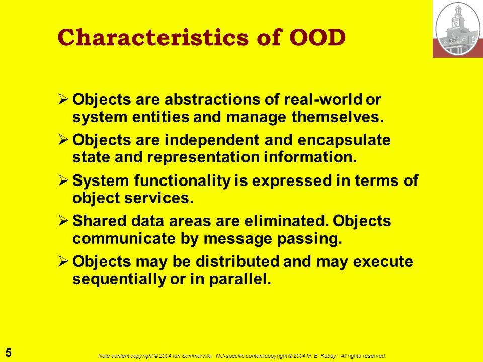 Characteristics of OOD