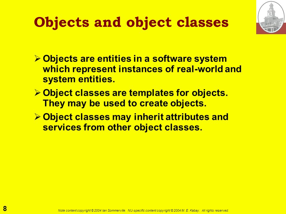 Objects and object classes