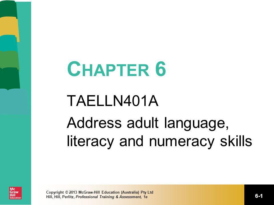 TAELLN401A Address adult language, literacy and numeracy skills