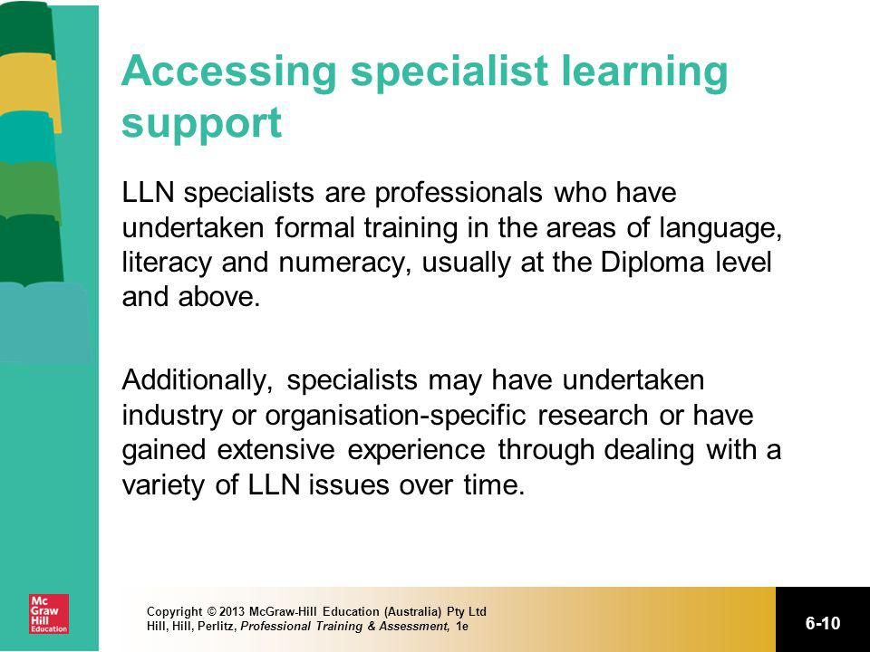 Accessing specialist learning support