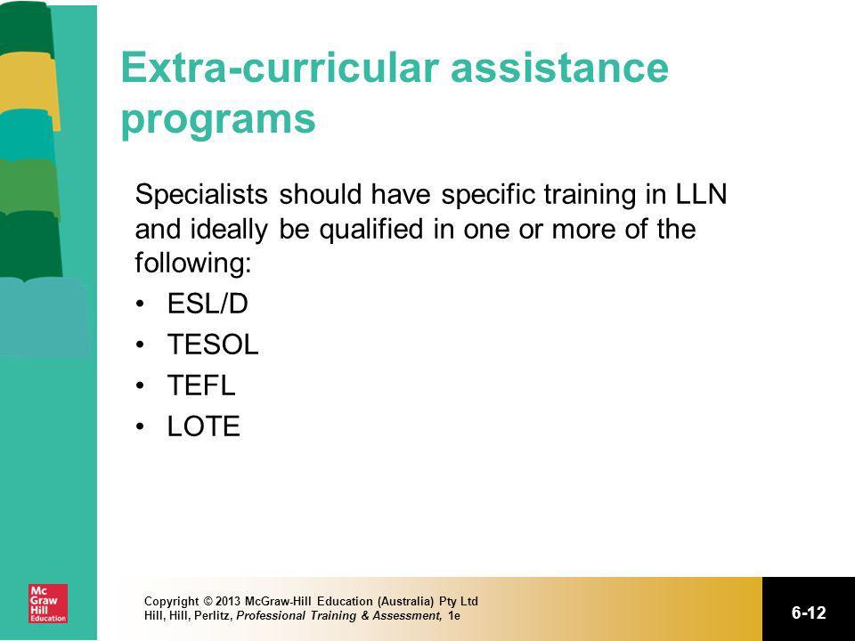 Extra-curricular assistance programs