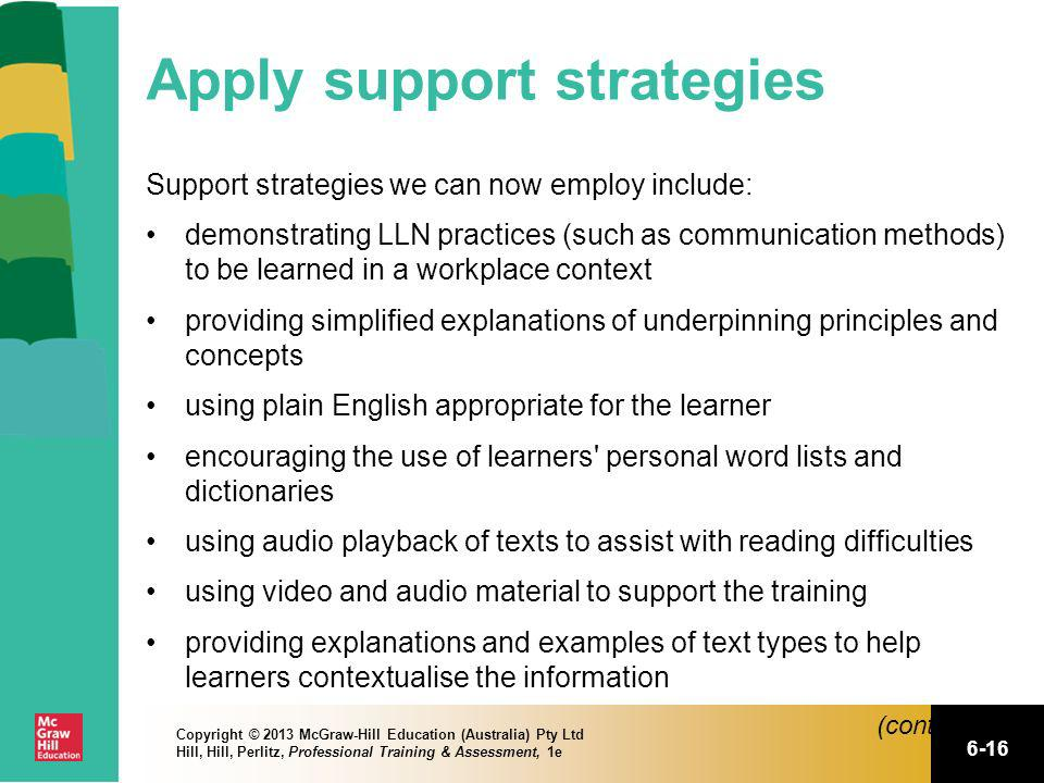 Apply support strategies